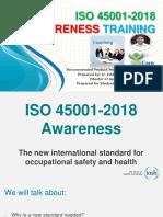 ISO 45001-2018 Awareness Training_Prepared by Eddy_190305