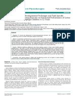 Effectiveness of Neurodevelopmental Technique and