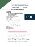 Industrial Training Report Format[1]