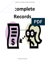 As Accounting Incomplete Records