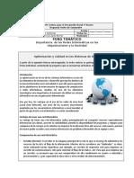 3.1.1 Foro_Importancia de Las Redes