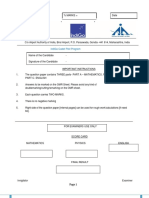 Question Paper- IndiGO Cadet Pilot Program-1