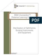 Sterilization of Ophthalmic Surgical Instruments and Equipment