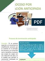 Proceso de Terminación Anticipada - Mg. Eiser Alexander Jiménez Coronel