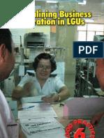 Streamlining Business Registration LGUs Handbook