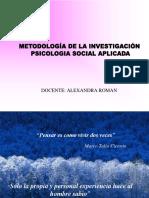 Metodologia de La Investigacion Psicosocial Parte i