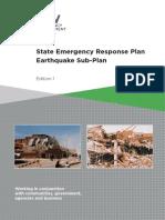State Emergency Response Plan - Earthquake Sub-plan - Edition 1
