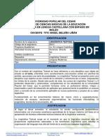 Plan de Asignatura Linguistica Textual II