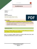 Examen Autocad 2019 Módulo I