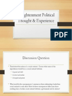 enlightenment political thought   experience