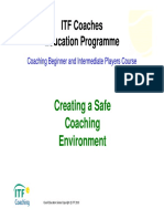 ITF Creating a Safe Coaching Environment