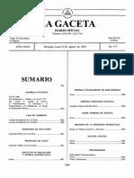 Gaceta Ley 1000 Reforma y Adición Ley 977 Contra El Lavado de Activos y Financiamiento Al Terrorismo