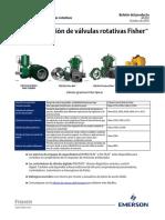 Guía de Selección de Válvula Giratoria Fisher Fisher Rotary Valve Selection Guide Spanish Es 3873870