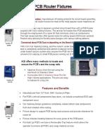 Pcb fixture data sheet