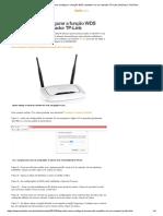 Aprenda Como Configurar a Função WDS Repetidor Em Um Roteador TP-Link _ Notícias _ TechTudo