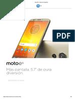 Moto E5 - Motorola Argentina