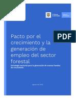 Pacto Por El Crecimiento y Para La Generación de Empleo Del Sector - Forestal