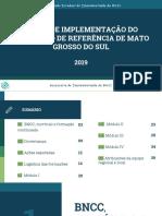 Ações de Implementação Do Currículo de Referência de Mato Grosso Do Sul
