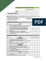 Cuestionario Escala de Likert - Percepción (CAD2)