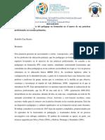 Las Concepciones Del Pedagogo en Formación en El Marco de Sus Prácticas Profesionales en Escuelas Primarias.
