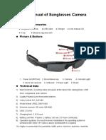 User Manual of Sunglasses Camera