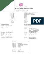 Prep School Daily Routine