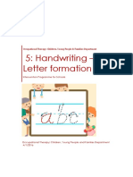5 Handwriting Letter Formation