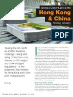 Printing in Hong Kong & China 2019