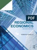 Regional Economics 2015 Capello