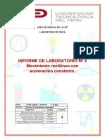 Informe 4- Lab. de Fisica Prof.silvia Tinoco