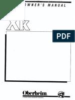 Oberheim XK Owners Manual