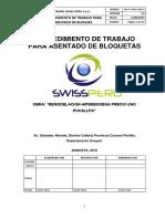 Swp-pt-hpup-Arq-01. Procedimiento de Trabajo Para Asentado de Bloques