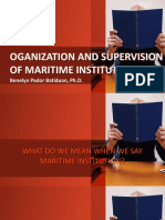 Organization and Supervision of Maritime Institution
