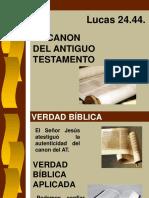 20 Jul 14 El Canon de Antiguo Testamento