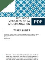 Recursos verbales_argumentación