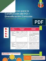 Orientaciones Para La Construcción Del PCI – Diversificación