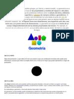 Que Es Geometria