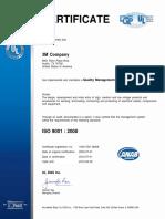 Certificado Iso 3m-2012