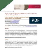 Agenda actual en investigación en Didáctica de las Ciencias Naturales en América Latina y el Caribe
