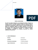 Hoja de Vida Jose Ignacio Acevedo- InGENIERO CIVIL