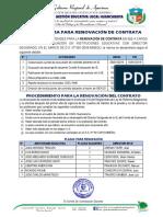 Proceso de Renovación de Contrata Docente 2019