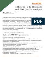 RMF 2019 1ra Modificación (Resumen)