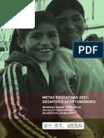 Metas y Desafios 2021 Desafios y Oportunidades en America LAtina UNESCO