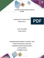 Paso 1, Informe de Lectura Crítica Como Estrategia Didáctica