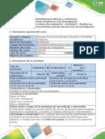 - Actividad 1 Realizar Un Documento Sobre Los Conocimientos Previos Del Proceso de Investigación