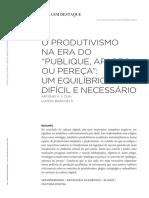 """O produtivismo na era do """"publique"""""""