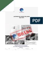Laporan Isu Hoaks Bulan April 2019