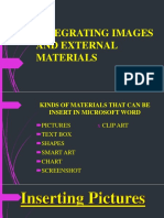 Integrating Images and External Materials