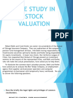 Case Study in Stock Valuation