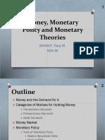 Money, Monetary Theory and Monetary Policy